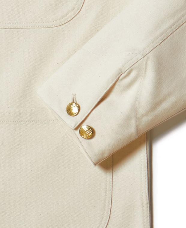 veste blanche kidur avec détails des manches