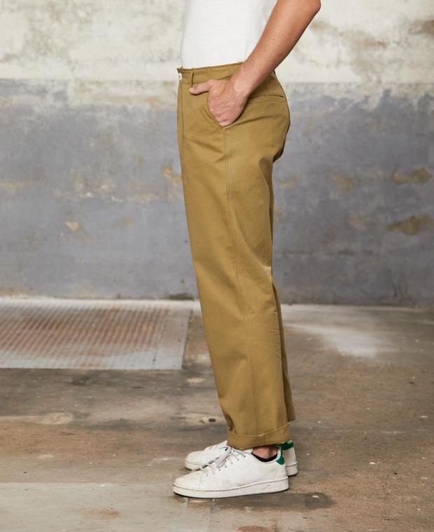 pantalon marron kidur de coté