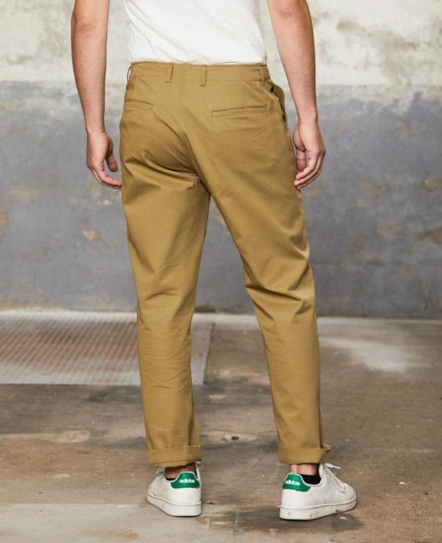 pantalon kidur marron de dos
