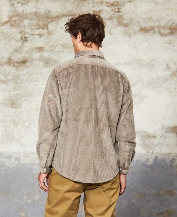 chemise velours gris kidur