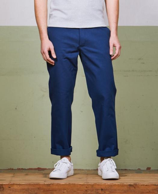 pantalon bleu kidur de face