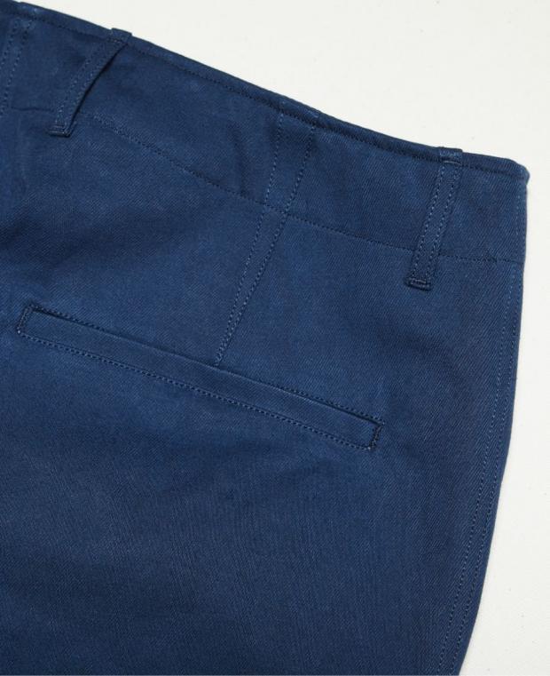 détails poche arrière pantalon bleu kidur