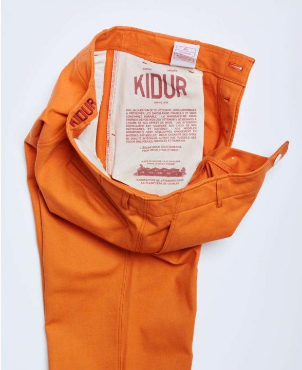 poche intérieure avec impression pantalon orange kidur