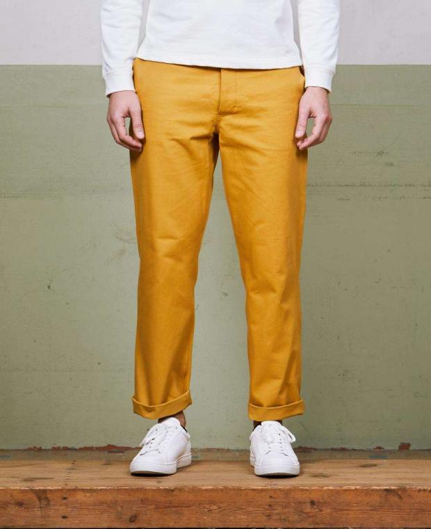 pantalon jaune kidur de face