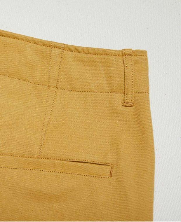 détails arrière pantalon jaune kidur
