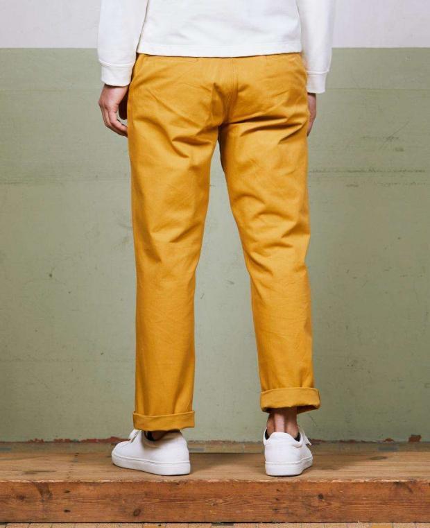 pantalon jaune kidur de dos