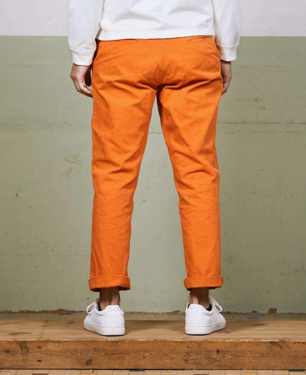 pantalon achille orange mecanic dos