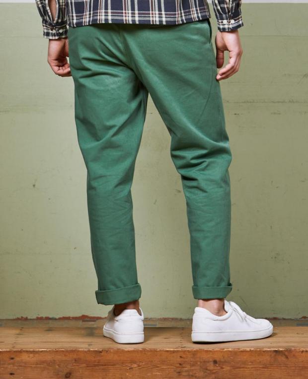 pantalon kidur vert poche arrière