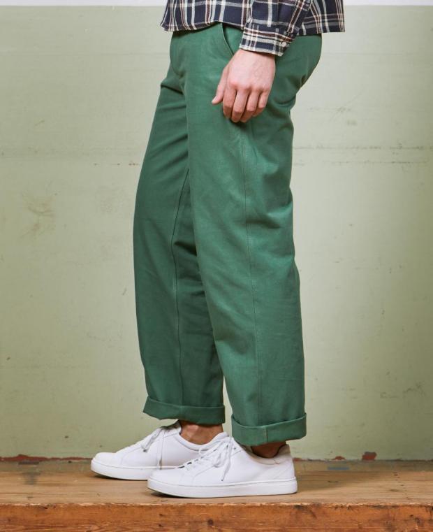 pantalon vert kidur de coté