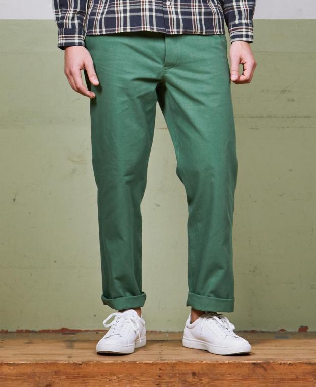 pantalon vert kidur de face