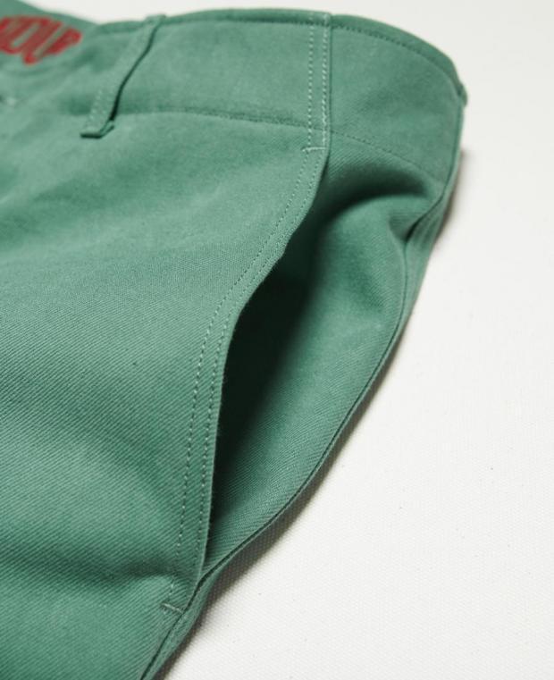 pantalon vert kidur poche avant