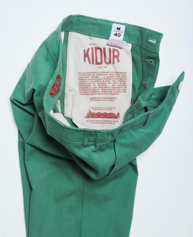 pantalon vert kidur poche intérieure