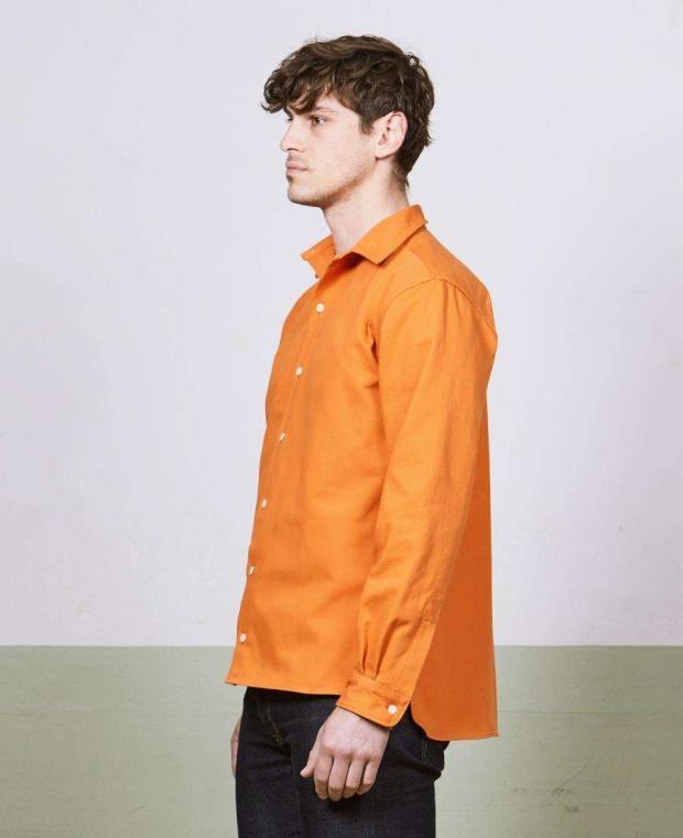 chemise orange kidur