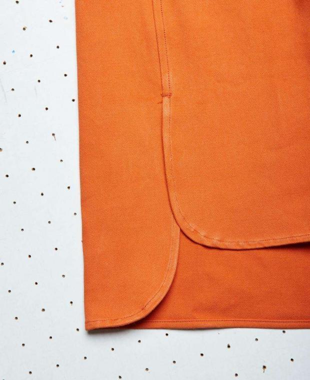 chemise orange détails kidur