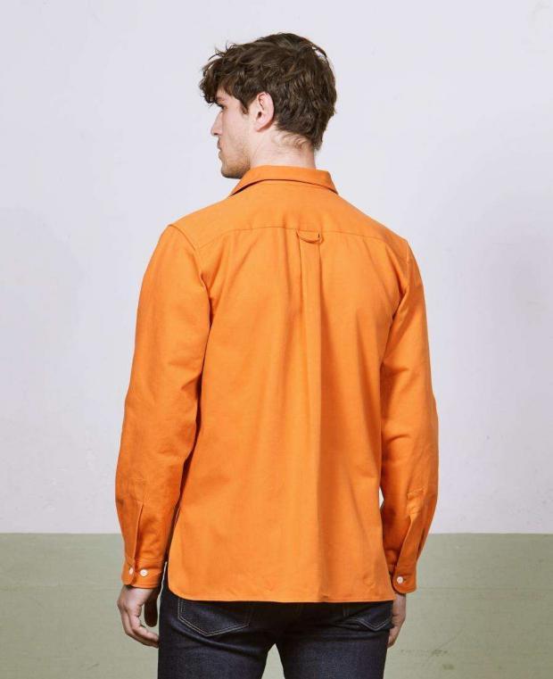 chemise orange dos kidur