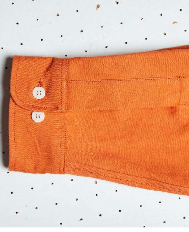 chemise orange manche kidur