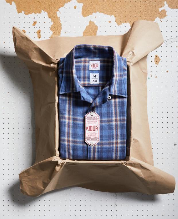 boite kidur chemise carreaux bleu