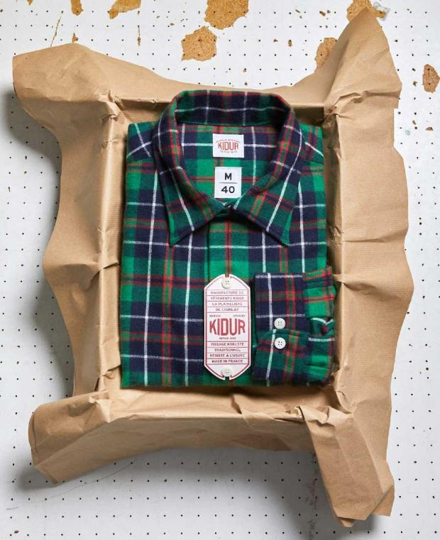 boite kidur chemise carreaux vert
