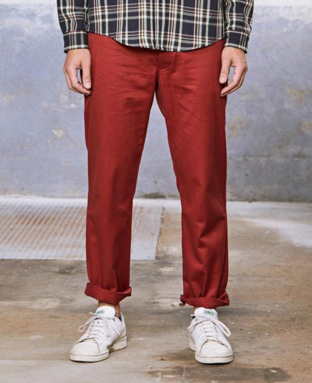 pantalon rouge kidur