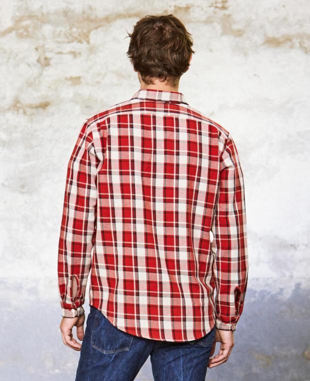 chemise à carreaux rouge kidur
