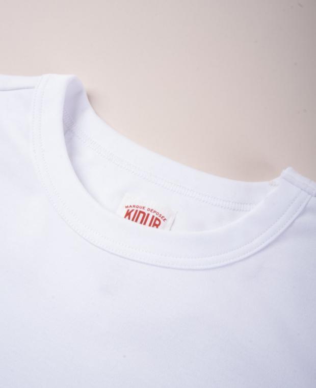 col t-shirt avec étiquette kidur