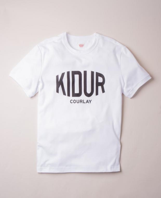 t-shirt blanc avec logo imprimé noir