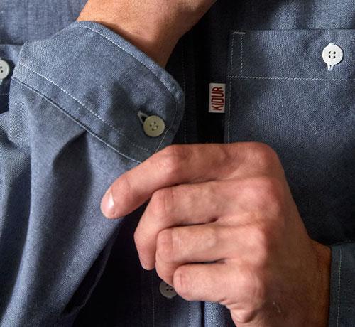 Détail poignet de la Work Shirt Bivouac