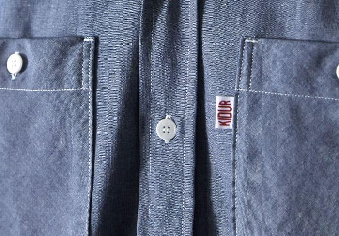 étiquette Kidur sur la poche